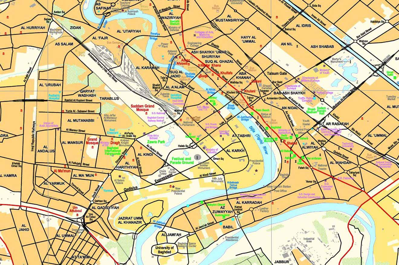 Baghdad City Map Baghdad City Map