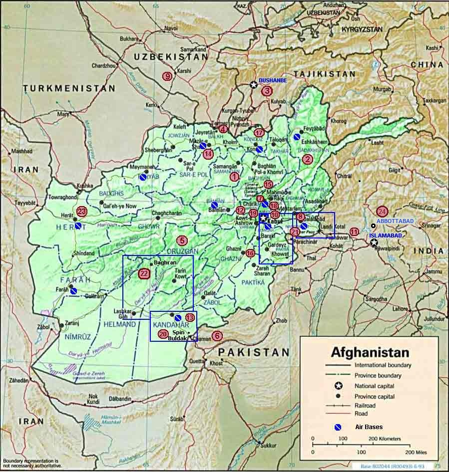 Afghanistanjpg - Us invasion of afghanistan everyday map