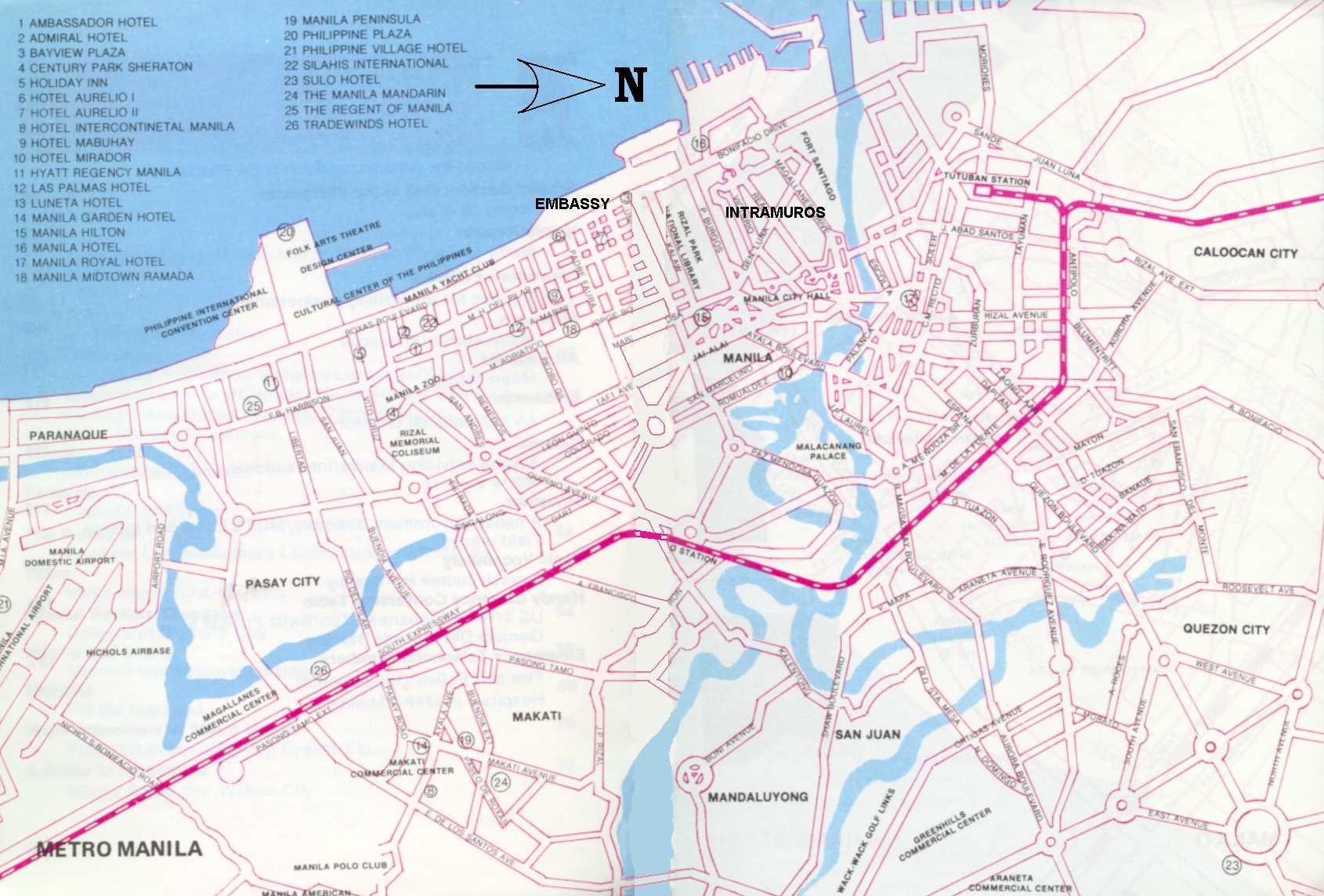 MANILA - Us embassy manila address map
